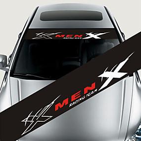 preiswerte Car Stickers-bunte reflektierende Dekorationsabziehbilder Autoaufkleber, die vorderen Windschutzscheibenabziehbildaufkleber anreden