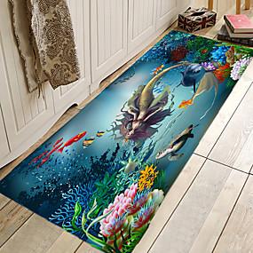 voordelige Matten & Tapijten-1pc Modern Badmatten Coral Velve Creatief / Nieuwigheid 5mm Badkamer Anti-slip / Nieuw Design / Makkelijk schoon te maken