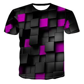 preiswerte Plan Your Summer-Herrn 3D T-shirt, Rundhalsausschnitt Druck Purpur