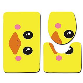 voordelige Matten & Tapijten-1 set Klassiek Badmatten 100g / m² Polyester Gebreid en Gestrekt Nieuwigheid / dier / Bloemenprint Creatief / Anti-slip