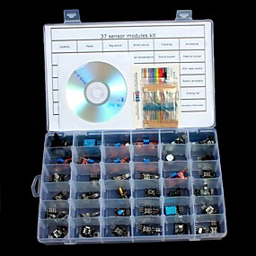 preiswerte Sensoren-37 in 1 Sensormodule Kits für Arduino Uno R3 Mega 2560 Mega Nano