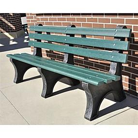 preiswerte Outdoor-Bänke-grüne kommerzielle Qualität Outdoor-Garten umweltfreundliche Kunststoff 4-Fuß-Parkbank