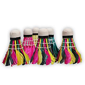 preiswerte Badminton-Rainbow Federbälle 10 Stück Entenfeder Extraleicht(UL) / Stabilität Badminton