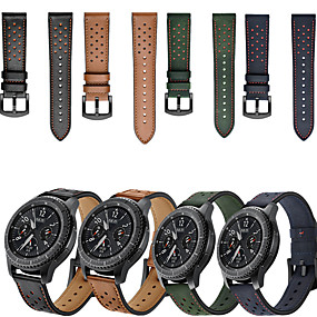 cheap Smartwatch Bands-Watch Band for Gear S3 Frontier / Gear S3 Classic / Samsung Galaxy Watch 46 Samsung Galaxy Sport Band Genuine Leather Wrist Strap