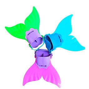 preiswerte Diving-Tauchen Flossen Schwimmflossen Meerjungfrau Einstellbare Passform Kurze Flossen Schwimmen Tauchen Schnorcheln TPR PP - zum Kinder Fuchsia Grün Hellblau