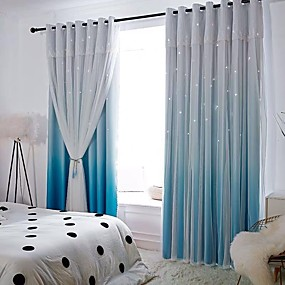 cheap Curtains & Drapes-Privacy Two Panels Curtain & Sheer Bedroom   Curtains