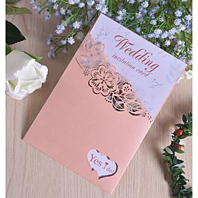"""povoljno Darovi i pokloni za zabave-Side Fold Vjenčanje Pozivnice 50pcs - Pozivnice Pearl papira 7 1/2 """"x 6 1/4"""" (19 * 13.5cm)"""