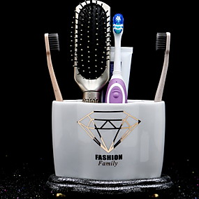 cheap Bathroom Gadgets-Tools Creative / Novelty Modern Contemporary Glass 2pcs Toothbrush & Accessories