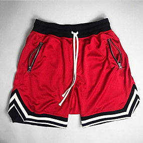 cheap Running & Jogging-Men's Running Shorts Sports & Outdoor Shorts Bottoms Split Stripe Mesh Fitness Gym Workout Running Jogging Quick Dry Breathable Soft Sport Stripes Black Red Yellow Green / Stretchy / Athletic