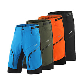 cheap Cycling & Motorcycling-Arsuxeo Men's Cycling MTB Shorts Summer Spandex Polyester Bike Shorts Pants Baggy Shorts Quick Dry Moisture Wicking Waterproof Zipper Sports Solid Color Army Green / Brick red / Black Mountain Bike