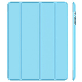 cheap Tablet Cases-Case For Apple iPad 4/3/2 Shockproof / Dustproof / Auto Sleep / Wake Up Full Body Cases Solid Colored Hard PU Leather