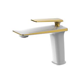 preiswerte Renovierung-Waschbecken Wasserhahn - Verbreitete Chrom / Öl-riebe Bronze / Golden Mittellage Einhand Ein LochBath Taps