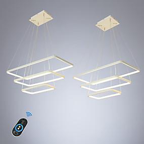 povoljno Viseća rasvjeta-ecolight 2 kom / puno led100w linearni privjesak svjetlo ambijentalno svjetlo za blagovaonicu dnevni boravak podesiv dim. 110-120v / 220-240v topla bijela / bijela / wi-fi smart