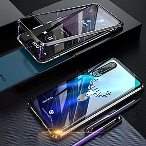 cheap Cellphone Case-Case For Huawei Huawei P30 Pro Shockproof / Dustproof / Transparent Full Body Cases Transparent Hard Tempered Glass
