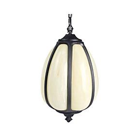 cheap Lantern Design-1-Light Outdoor Pendant Lamp Antique Ceiling Pendant Lighting Adjustable Overhead Light Round Doorway Garden Night Light Suspension Light