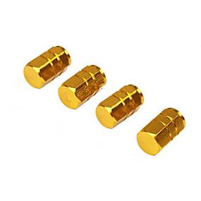 povoljno Dekoracija za kotače automobila-4pcs / pack gume ventili aluminijske legure guma stabljike zraka kapa hermetičan kapa