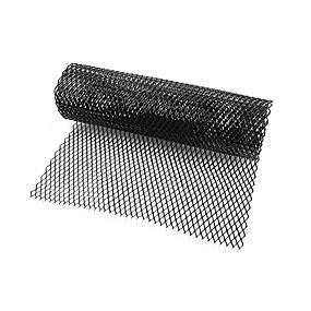levne Dekorace přední mřížky automobilu-auto stříbrná / černá hliníková slitina přední nárazník kosočtverečná mřížka (8x16mm) \ t