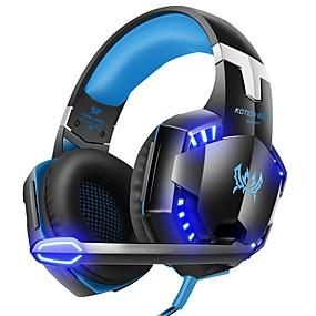 levne Hraní her-g2000 počítačové stereo herní sluchátka nejlepší casque hluboké basové hry sluchátka sluchátka s mikrofonem LED světlo pro pc hráče