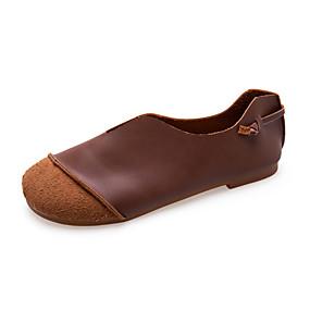 voordelige Damesschoenen met platte hak-Dames Platte schoenen Platte hak PU Zomer Koffie / Kameel