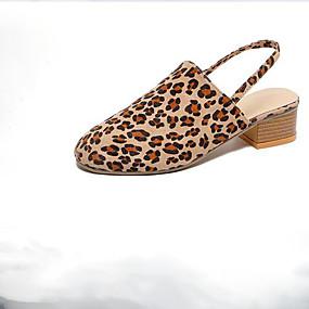 voordelige Damesinstappers & loafers-Dames Loafers & Slip-Ons Lage hak Ronde Teen Polyester Lente Wit / Roze / Luipaard