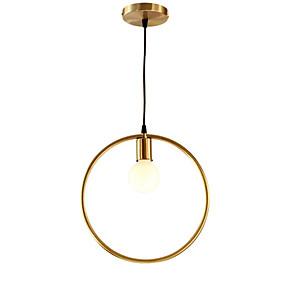 povoljno Viseća rasvjeta-QIHengZhaoMing Privjesak Svjetla Ambient Light Brass Metal 110-120V / 220-240V Meleg fehér
