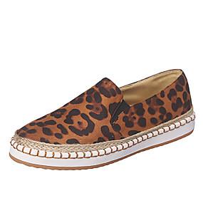 voordelige Damesschoenen met platte hak-Dames Platte schoenen Platte hak PU Lente & Herfst Zwart / Luipaard / Roze