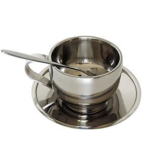voordelige Koffie en Thee-Roestvast staal Handmatig Ovaal 5 stuks Beker