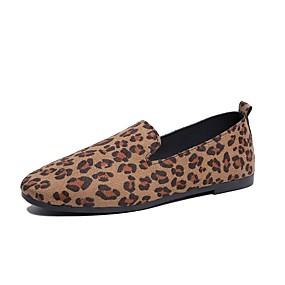 voordelige Damesschoenen met platte hak-Dames Platte schoenen Platte hak Ronde Teen Canvas Informeel Lente zomer / Herfst winter Bruin / Khaki