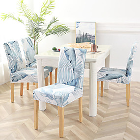 cheap Slipcovers-Slipcovers Chair Cover Reactive Print Polyester/ Stylish White & Blue Floral Pattern/ Highly Stretchy