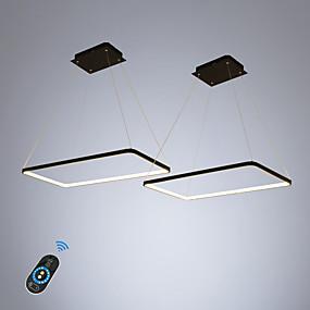 povoljno Viseća rasvjeta-ecolight 2 kom / puno pravokutnik linearni privjesak svjetlo ambijentalno svjetlo za blagovaonicu dnevni boravak. podesivi prigušivač 110-120v / 220-240v topla bijela / bijela / wi-fi pametna