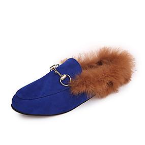 voordelige Damesschoenen met platte hak-Dames Platte schoenen Lage hak Gepuntte Teen PU Informeel Lente / Herfst winter Roze / Wijn / Marine Blauw