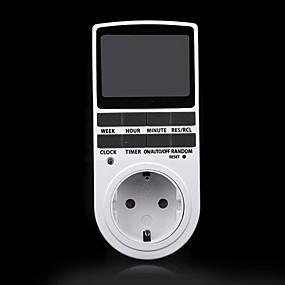 preiswerte Neu Eingetroffen-elektronische digitale zeitschaltuhr 24 stunden zyklische eu stecker küche timer steckdose programmierbare zeitschaltuhr steckdose 220 v
