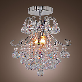 preiswerte Beleuchtung-QINGMING® 3-Licht Geometrisch / Mini Kronleuchter Moonlight Galvanisierung Metall Ministil 110-120V / 220-240V