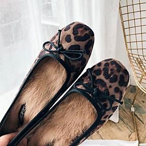 voordelige Damesschoenen met platte hak-Dames Platte schoenen Platte hak Synthetisch Herfst winter Bruin / Khaki