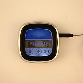 levne Super Sleva-ts-s62 digitální barevné dotykový displej trouba teploměr okamžité čtení sonda vaření jídlo bbq kuchyně teploměr