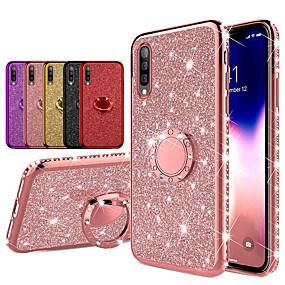 cheap Samsung Case-Diamond 360 Degree Rotating Ring Holder Plating Soft TPU Glitter Bling Cases For Samsung A70 A50 A40 A30 A20 A10 A7 2018 A8 Plus 2018 A8 2018 A6 Plus 2018 A6 2018 Shining Case