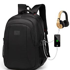 ราคาถูก Bags-Large Capacity ผ้าออกซ์ฟอร์ด ซิป กระเป๋าเป้สะพายหลัง สีทึบ ทุกวัน สีดำ / สำหรับผู้ชาย