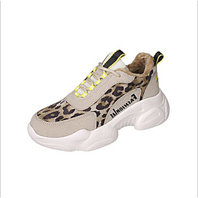 voordelige Damesschoenen met platte hak-Dames Platte schoenen Platte hak Ronde Teen PU Lente Zwart / Beige