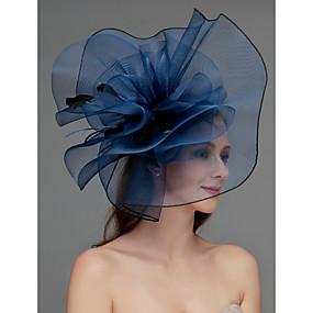 povoljno Melbourne Cup Carnival Hats-Net Fascinators / Šešir / Headpiece s Perje / Cvijet / Trim 1 komad Vjenčanje / Special Occasion / Čajanka Glava