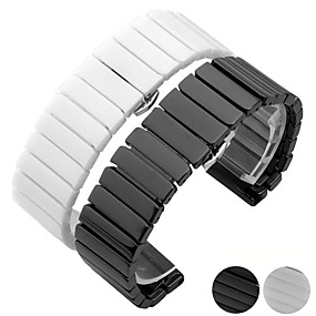 cheap Smartwatch Bands-Watch Band for Gear S3 Frontier / Gear S3 Classic / Gear S3 Classic LTE Samsung Galaxy Butterfly Buckle Ceramic Wrist Strap