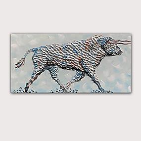 preiswerte Bekannte Meisterwerke-Handgemaltes Ölgemälde 3d - moderner gerollter Stier der Qualitäts des abstrakten Porträtzusammenfassungs-Segeltuches