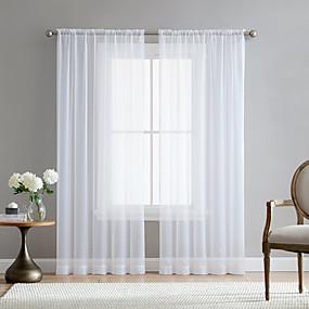 baratos Móveis-estilo de haste moderna branco cortinas cortinas sala de armazenamento