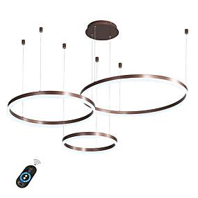 povoljno Lámpatestek-vodio 60w krug luster / vodio moderne privjesak svjetla za dnevni boravak caffe bar shop soba / male veličine / topla bijela / bijela / dimmable s daljinskim upravljačem / WiFi pametne putem glasovne