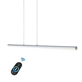 povoljno Lámpatestek-led20w linija privjesak svjetlo traka svjetlo alunminum srebro slika za ured soba blagovaonica showroom trgovački centar svjetlo / toplo bijelo bijelo dimmable s daljinskim / WiFi pametni glas ili