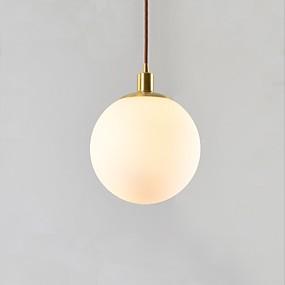 povoljno Viseća rasvjeta-Glob Privjesak Svjetla Ambient Light Brass Bakar Glass 110-120V / 220-240V
