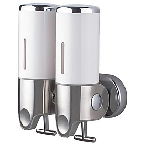 cheap Soap Dispensers-Soap Dispenser Creative Contemporary Plastics / Stainless Steel 1pc - Bathroom Wall Mounted