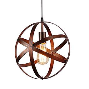 preiswerte Pendelleuchten-30cm Vintage Industrie Metall kugelförmige Pendelleuchten Esszimmer Küche Café hängende Leuchte lackiert
