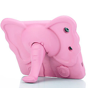 cheap iPad case-Case For Apple iPad Mini 3/2/1 / iPad Mini 4 Shockproof / Child Safe Back Cover Solid Colored / Animal / 3D Cartoon EVA