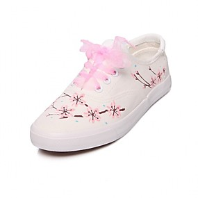 voordelige Damessneakers-Dames Sneakers Bloemen Platte hak Ronde Teen Canvas Informeel / Zoet Hardlopen / Wandelen Herfst / Lente zomer Paars / Groen / Blauw