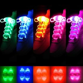 preiswerte Ungewöhnliche Lampen und Lichter-Mode für Männer Frauen Licht LED-Schnürsenkel Partei leuchtenden Nacht laufen Schnürsenkeln Club Highlight leuchtende Spitze nach oben